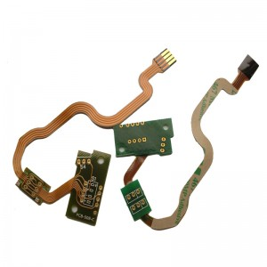 2L Rigid-Flex PCB with ENIG Gold Finger and 3M467 Tape