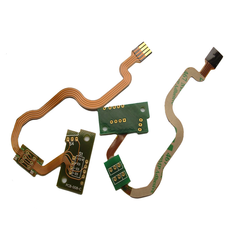 2L Rigid-Flex PCB with ENIG Gold Finger and 3M467 Tape Featured Image