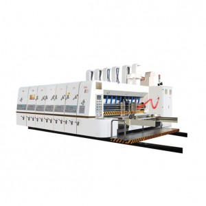 High speed flexo printing slotting and rotary die cutting machine