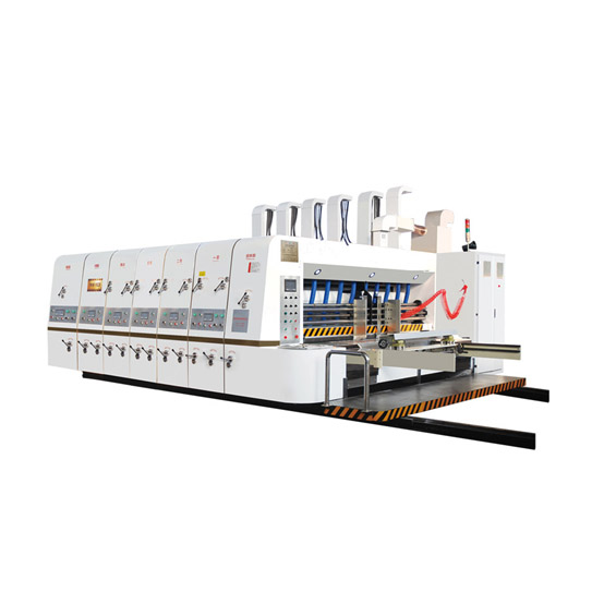 High speed flexo printing slotting and rotary die cutting machine Featured Image