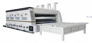 Low speed printing die cutting slotting machine