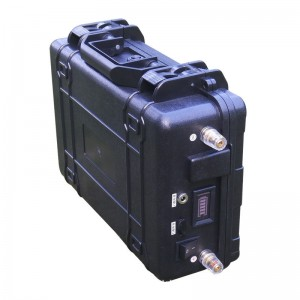 Portable 12V 200Ah rechargeable lithium ion battery pack with IP67 ABS case