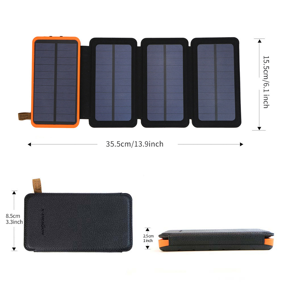 Water proof foldable solar power bank 10000mah|20000mah factory Featured Image