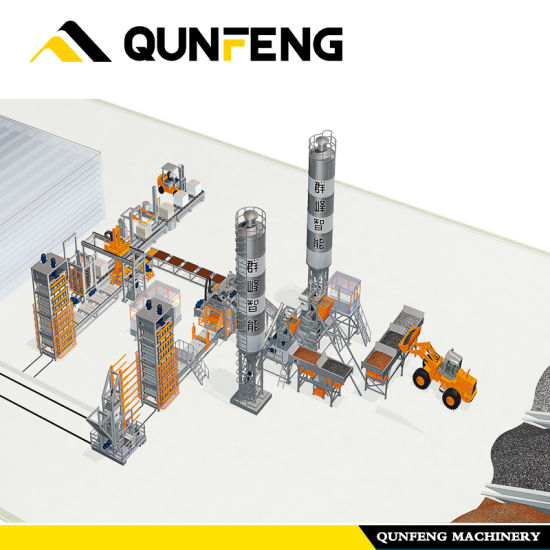 Reliable Supplier Interlock Block Machine - Fully Automatic Block Production Line with Curing Rack (QF1300) – Qunfeng