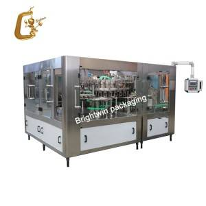 Automatic 2 in 1 cooking edible oil bottling production line / sunflower oil filling capping labeling processing machine