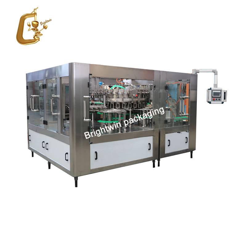 Automatic 2 in 1 cooking edible oil bottling production line / sunflower oil filling capping labeling processing machine Featured Image