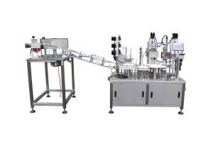 IVD reagent tube filling and capping machine