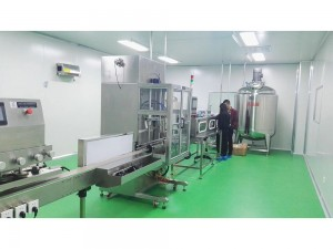 Thick sticky liquid filling machine