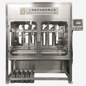 Automatic 6 nozzles filling and capping machine for engine oil