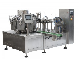 Rotary doypack pouch granule packing machine