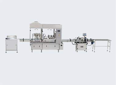 Small bottle filling line