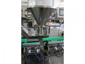 Powder bottle filling line