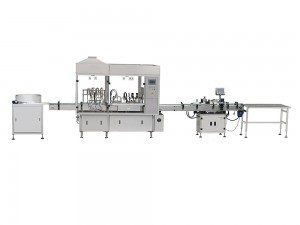 peristaltic pump filling plugging and screw capping machine for small volume