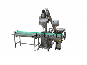 Linear powder filling machine