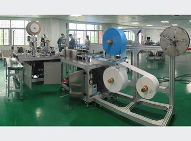 Automatic 3 layers disposable plane face mask making machine01