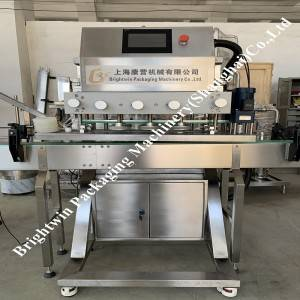 500ml hand sterilizer 4 nozzles servo filling line(place pump head by hand)