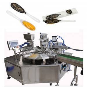 New shapes honey spoon filling sealing machine and pillow packing machines