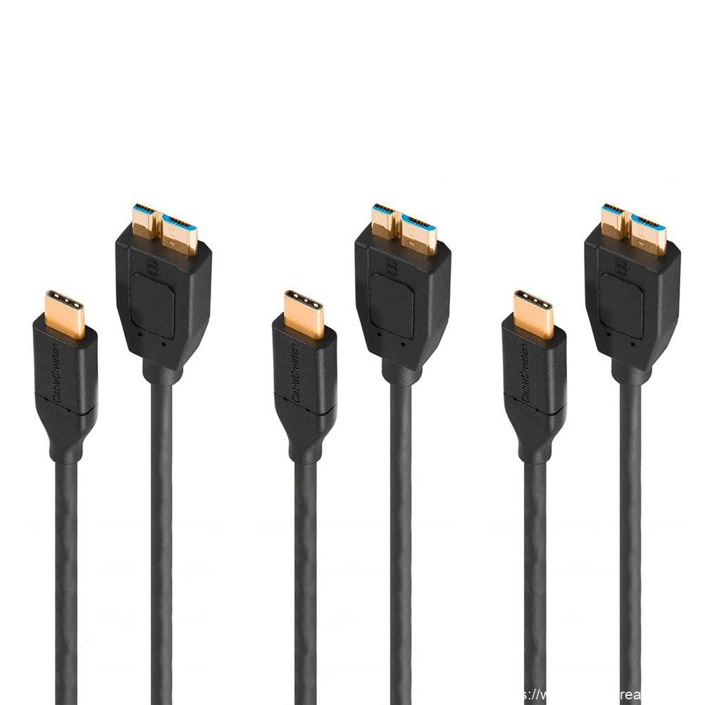 Hot-selling Usb C Hdmi Male - [3-Pack] USB-C to Micro USB 3.0 Cable 1 Feet/0.3 Meters, #CC0016-3 – CableCreation
