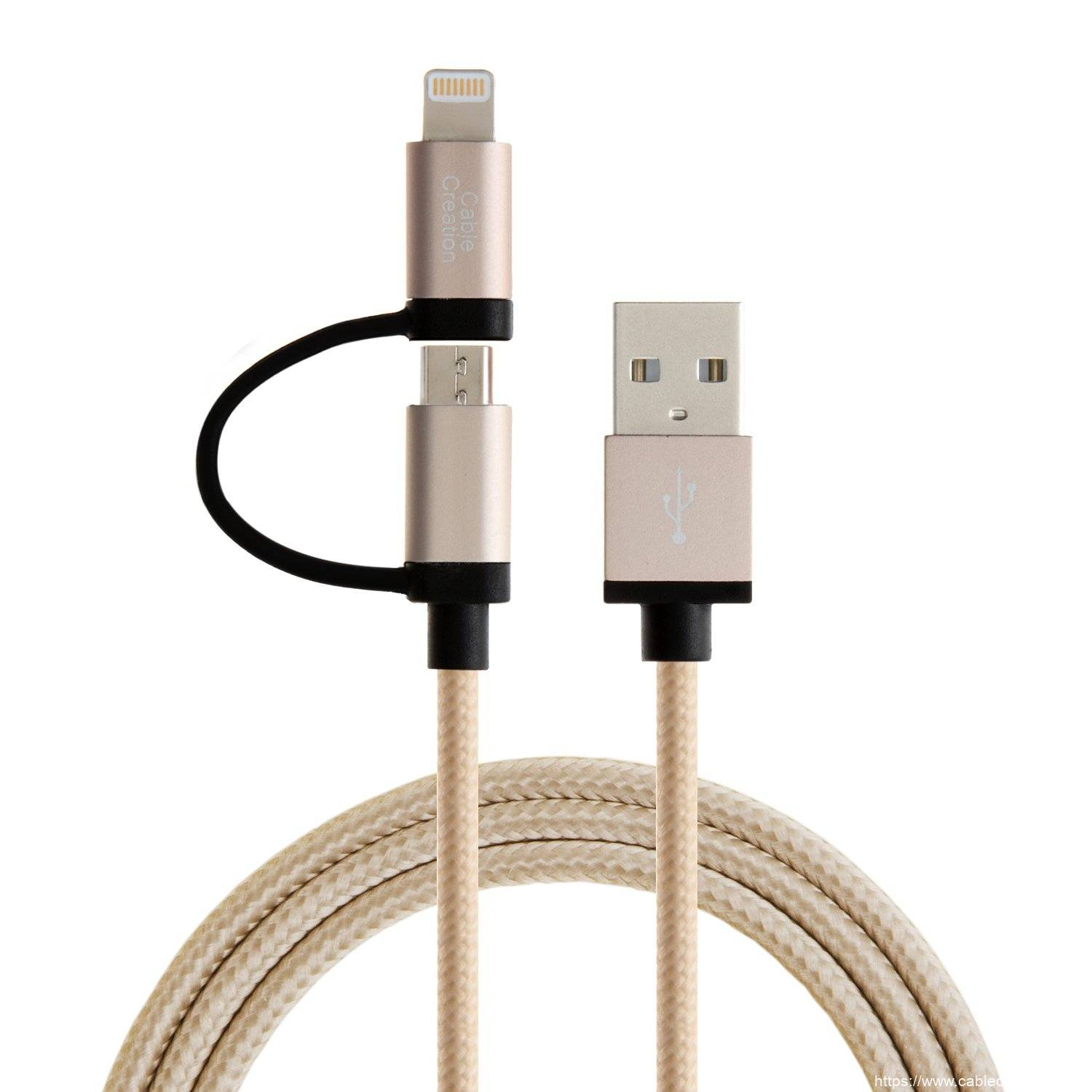 Cheap price Apple Data Cable - 2-in-1 Lightning and Micro USB Cable 4Feet / 1.2Meters, # CC0048 – CableCreation