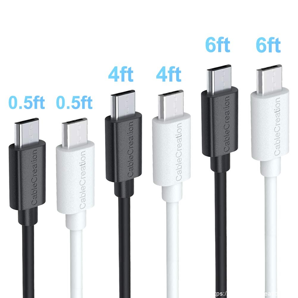 New Delivery for Ethernet Usb Adapter - USB Charge Cable 0.5 Feet/0.15Meter, 4 Feet/1.2Meters, 6 Feet/1.8Meters, #CC0054 – CableCreation