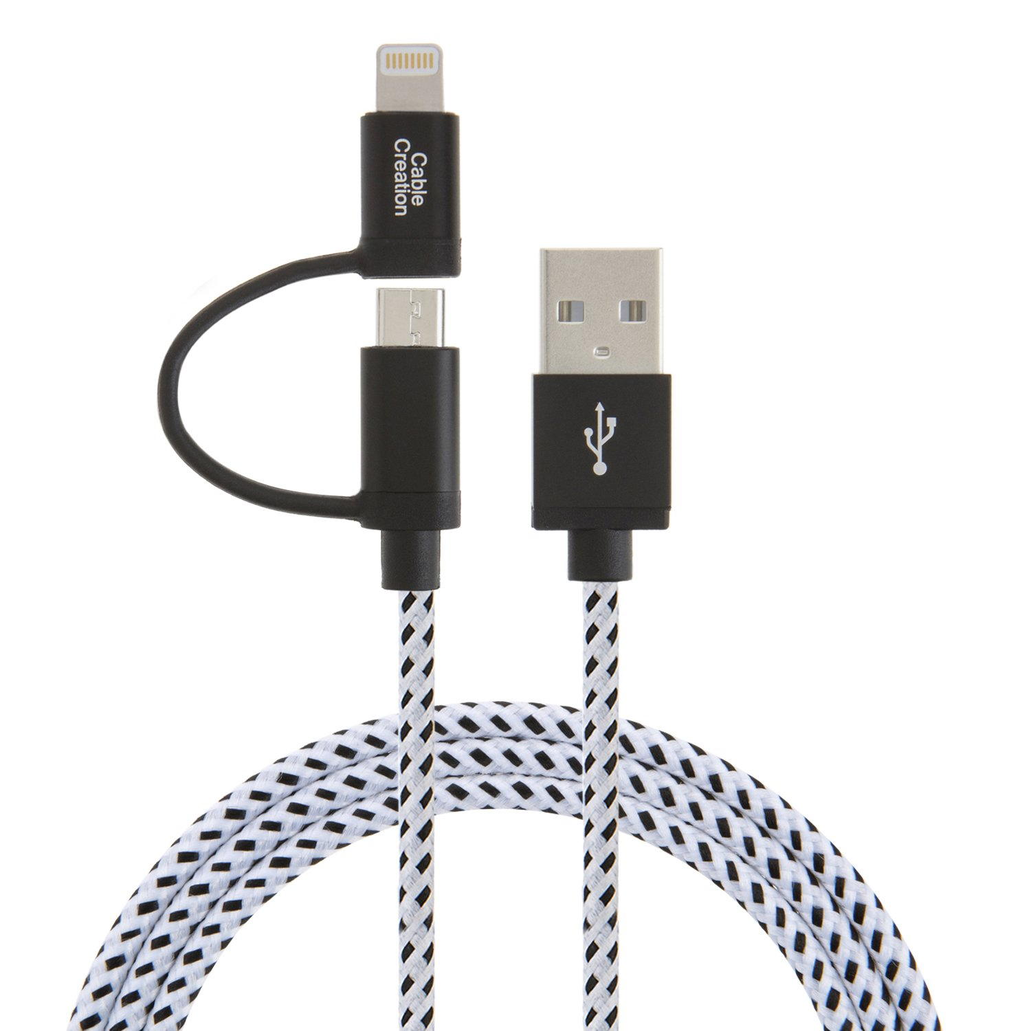 Manufacturer for Usb And Lightning Cable - 2-in-1 Lightning and Micro USB to USB Data Sync Charge Cable, #CC0160 – CableCreation