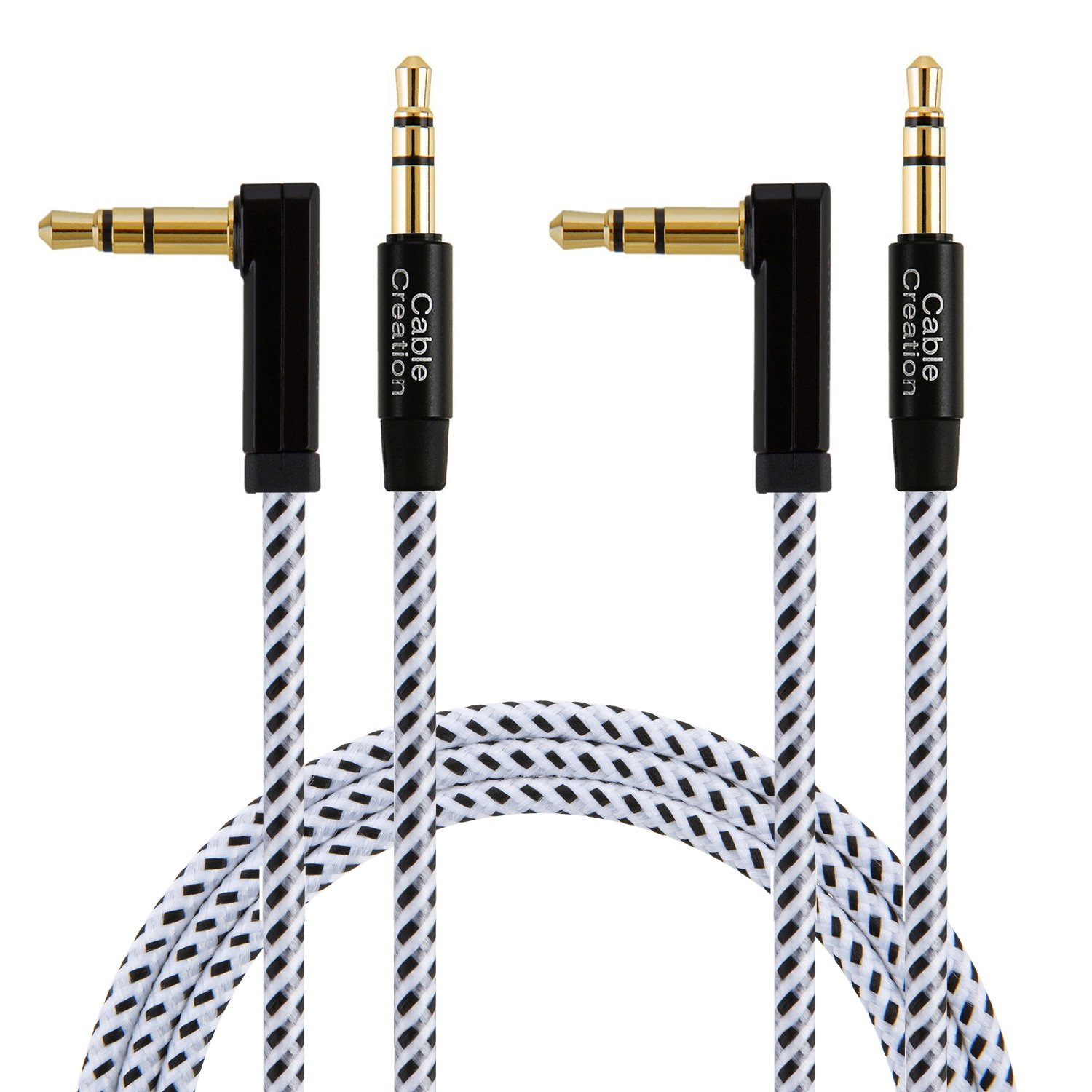 China wholesale Auxiliary Audio Cable & Adapter - 3.5mm Audio Cables 90 Degree, #CC0380 – CableCreation