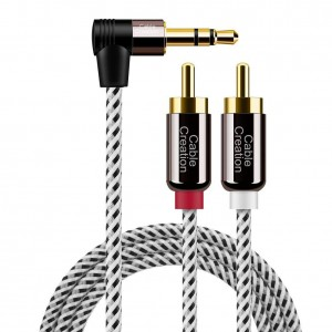 Hot Selling for Xlr Male To Female Microphone Cable - 3.5mm to RCA Cable 6 Feet/1.8 Meters, #CC0829 – CableCreation