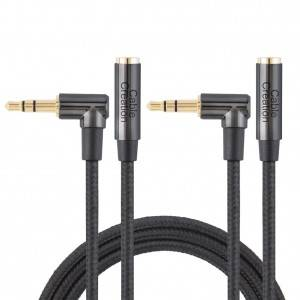 3.5mm Headphone Extension Cable 3Feet/1Meter, 2 Pack, #CC0876
