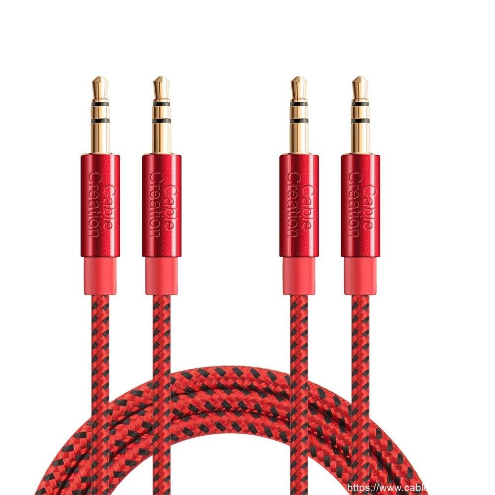 3.5mm Aux Cable 1.5Feet/0.45Meter, 2 Pack, #CC0892