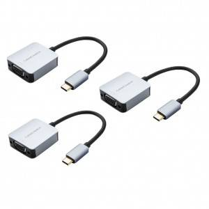 USB C to VGA Adapter, 3 Pack, #CD0595-3