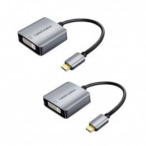USB C to DVI Adapter 1080P, 2 Pack, #CD0596-2