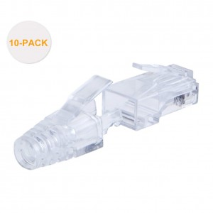 Cat 6 RJ45 Plug with Hood Connector, #CL0060