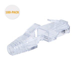 Cat 6 RJ45 Plug with Hood Connector, #CL0061