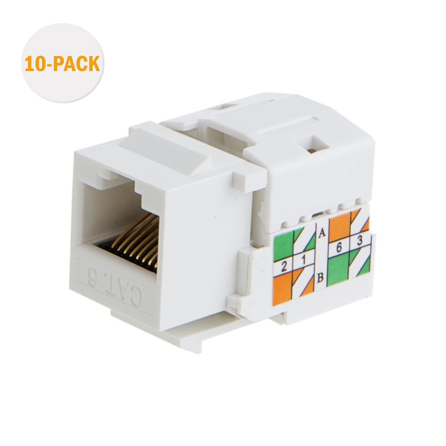 High definition Cat6 Rj45 Ends - Cat6 / RJ45 Keystone Module Connector, #CL0080 – CableCreation