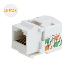 20-PACK Cat6 / RJ45 Keystone module Connector, #CL0081