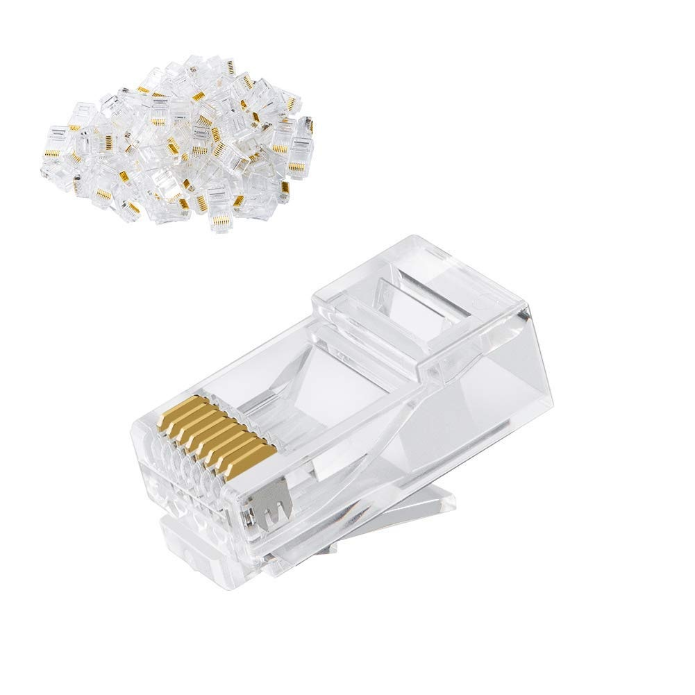 Fast delivery Rj45 Network Plug For 24 To 26 Awg - Cat6 RJ45 Ends, #CL0188 – CableCreation