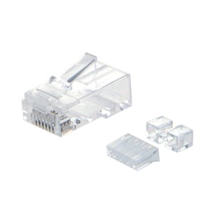 Cat 6A RJ45 Modular Plug (Three-Piece Suit), #CL0202