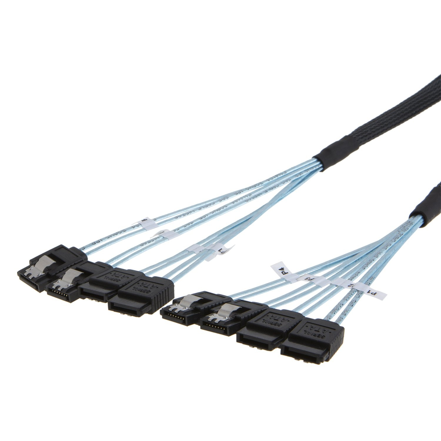 Wholesale Price China Internal Hd Mini Sas Cable - 4 SATA (7Pin) Female to 4 SATA (7Pin)  Female Cable 1.66 Feet/0.5 Meter, #CS0055 – CableCreation