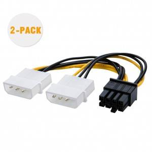 Molex to PCIe Power Cable,2 Pack, # CS0125