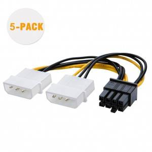 Molex to PCIe Power Cable, 5 Pack, #CS0126