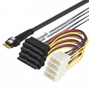 SFF-8654 to SFF-8482 Cord 1.5Feet/0.5Meter, #CS0137