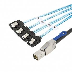 SFF-8644 to 4 Sata 7 Pin Cable 3.2Feet / 1Meter, # CS0144