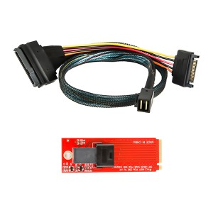 SFF-8639 to SFF-8643 Cable & SFF-8639 to SFF-8643 Adapter, #CS0140