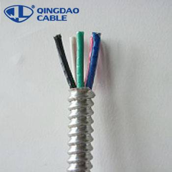 Reliable Supplier Central Tube Type Cable - Type MC cable electrical wire manufacturing plant Copper/Aluminum conductors THHN/XLPE insulation Al armored – Cable detail pictures