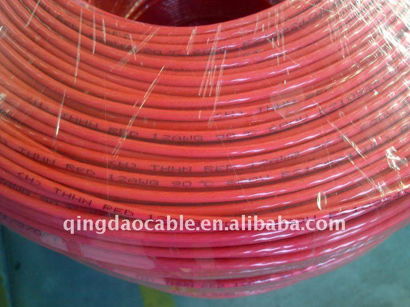 Top Suppliers Pvc Copper Power Cable - Type THHN Copper/Aluminum thhn wire Solid or stranded building wire and cable Cu/Al conductor pcv insulated on Nylon Sheath – Cable detail pictures