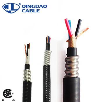factory customized 2/0awg 1000v Interlocked Armor Teck 90 Cable - CSA Teck 90 600V Control Cable 14 – 10AWG Copper Conductor XLPE Insulated Singles Aluminum Interlocked Armor Inner and Outer PVC jackets – Cable detail pictures