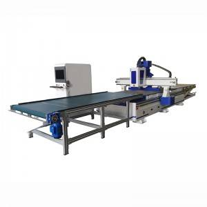 Cheap price Auto-feeding Cnc Router ,Intelligent Furniture Production Line By Automatic Uploading And Downloading Material