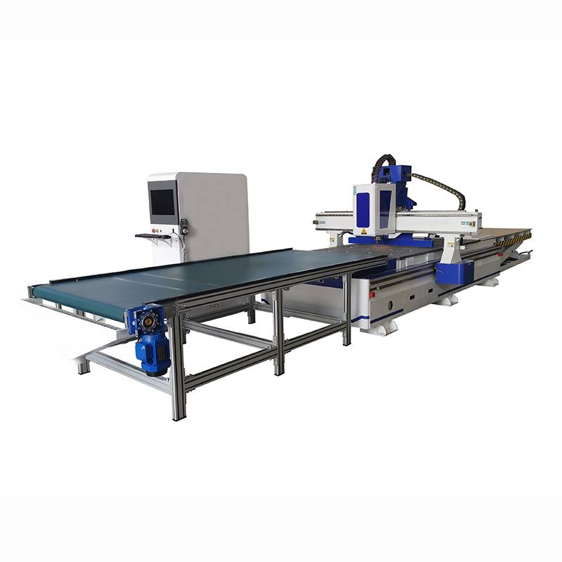 Cheap price Auto-feeding Cnc Router ,Intelligent Furniture Production Line By Automatic Uploading And Downloading Material Featured Image