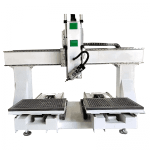 CA-1224 Double Table 4 Axis Spindle Rotate CNC Router For Chair Making