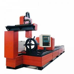 ODM Factory 4 Axis Plasma Machine / Square Pipe Circle Metal Tube Plasma Cutting Machine
